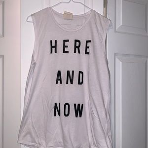 HERE AND NOW muscle tee